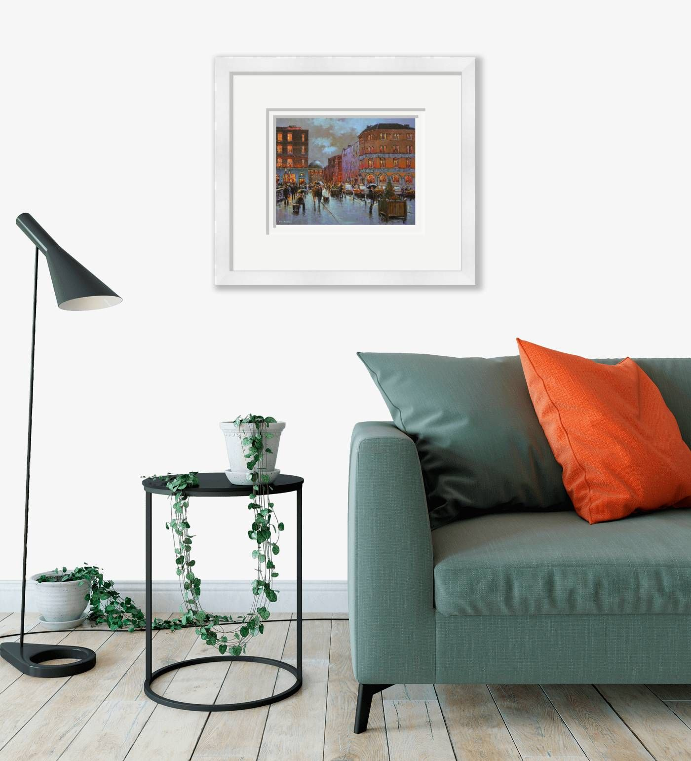 Large framed - Grattan Bridge and Parliament Street, Dublin - 109 by Chris McMorrow