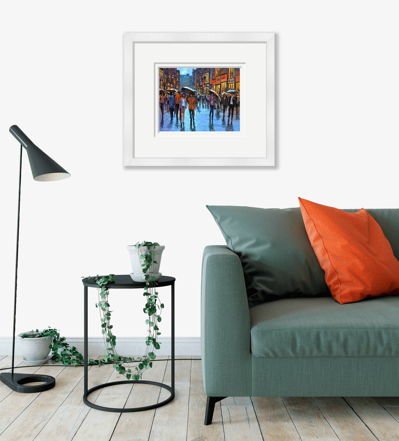 Large framed - Grafton Street People, Dublin - 261 by Chris McMorrow