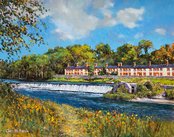 Cottages by the Weir, Lucan, Co Dublin - 299 by Chris McMorrow