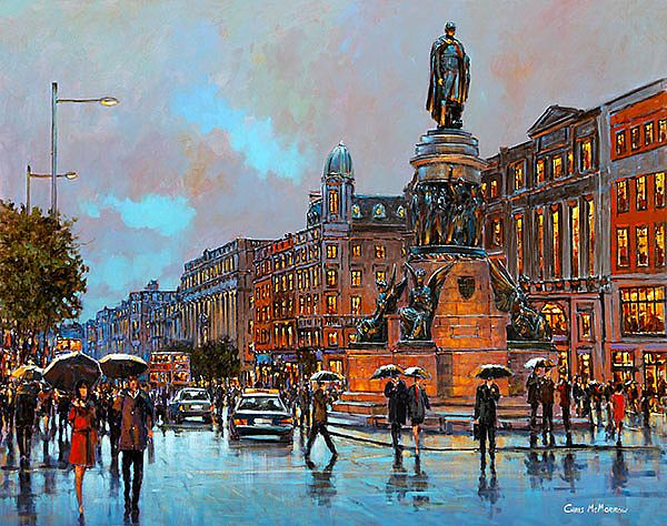 Chris McMorrow - Crossing O'Connell Street, Dublin - 303