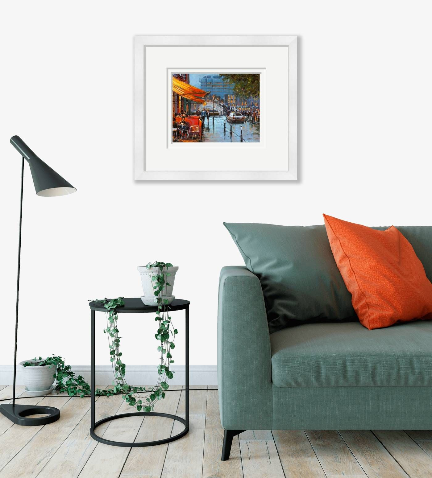 Large framed - Liffey Street View - 324 by Chris McMorrow