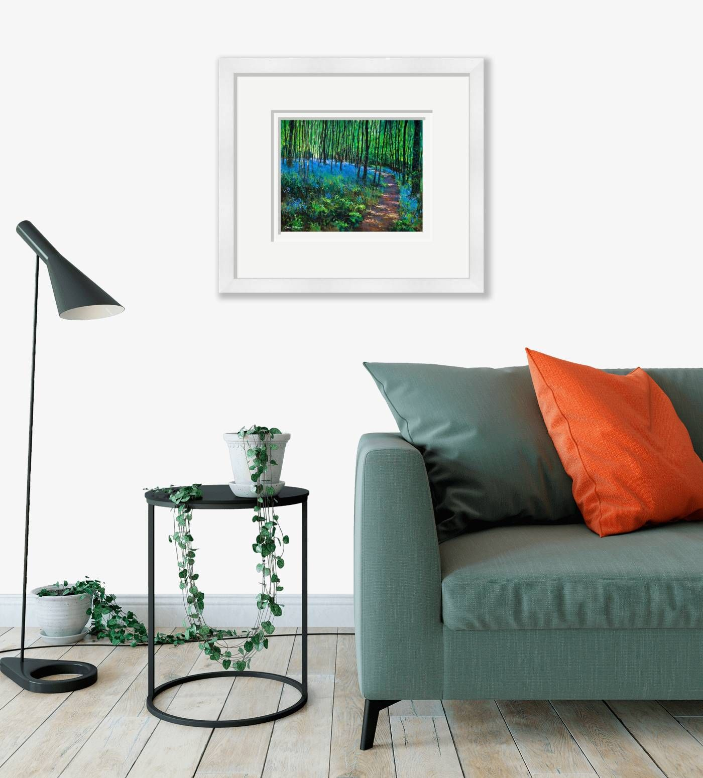 Large framed - Bluebell Wood - 351 by Chris McMorrow