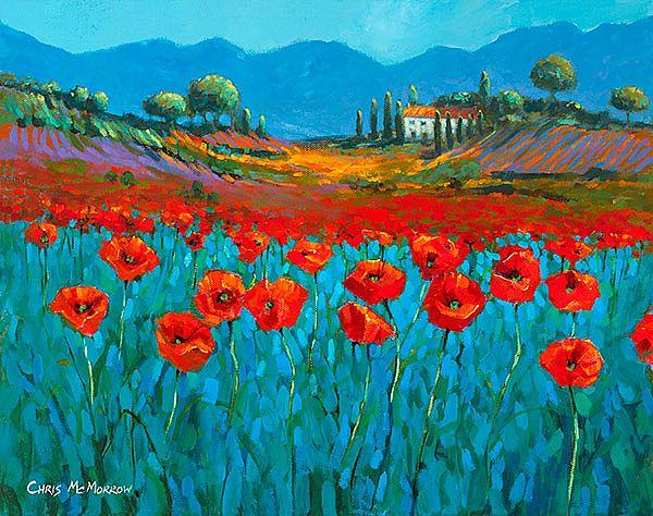 Chris McMorrow - Poppies in Blue - 437
