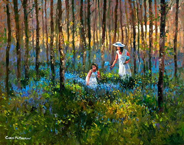Picking the Bluebells - 511 by Chris McMorrow