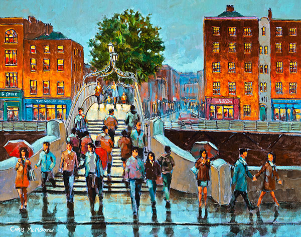 On the Ha'penny Bridge - 520 by Chris McMorrow