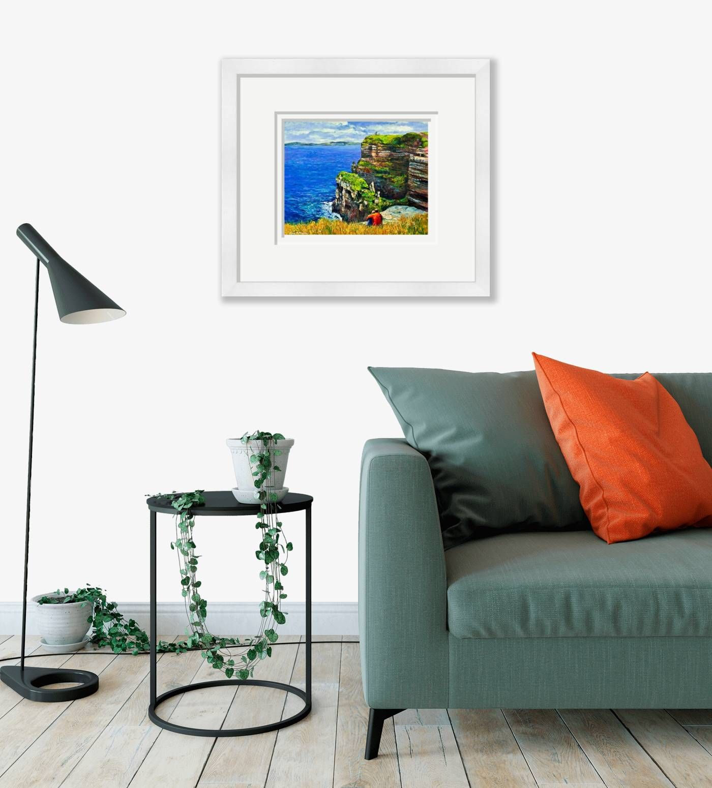 Large framed - Cliffs of Moher - 529 by Chris McMorrow