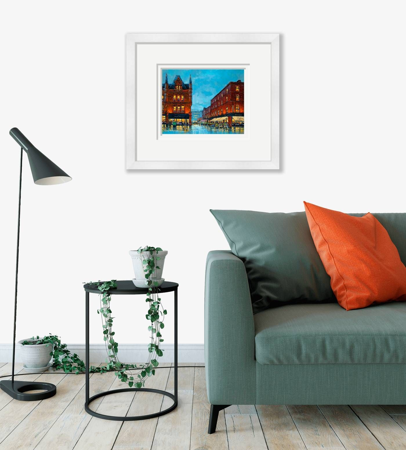 Large framed - Fade Street, Dublin - 540 by Chris McMorrow