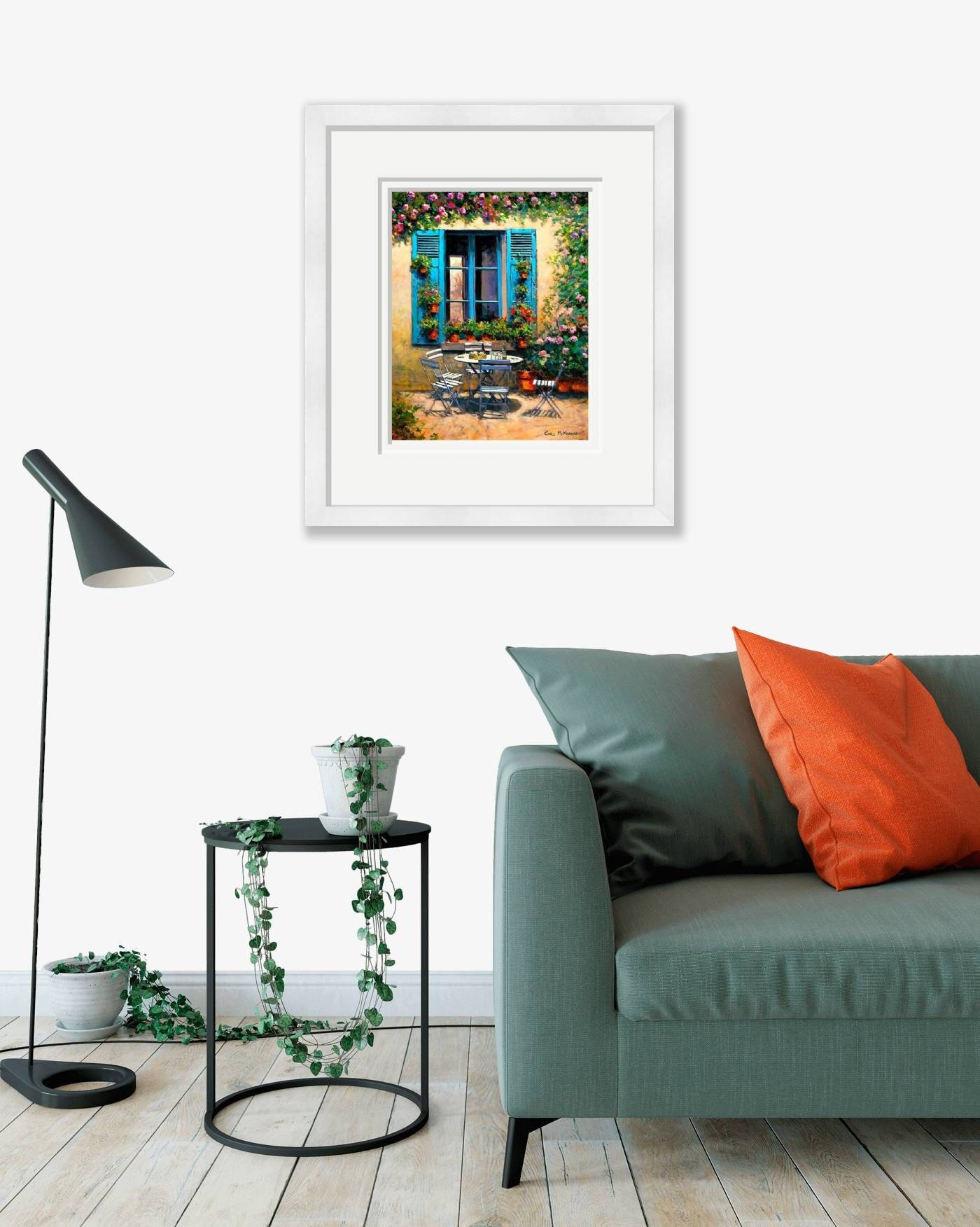 Large framed - The House with the Blue Shutters - 548 by Chris McMorrow
