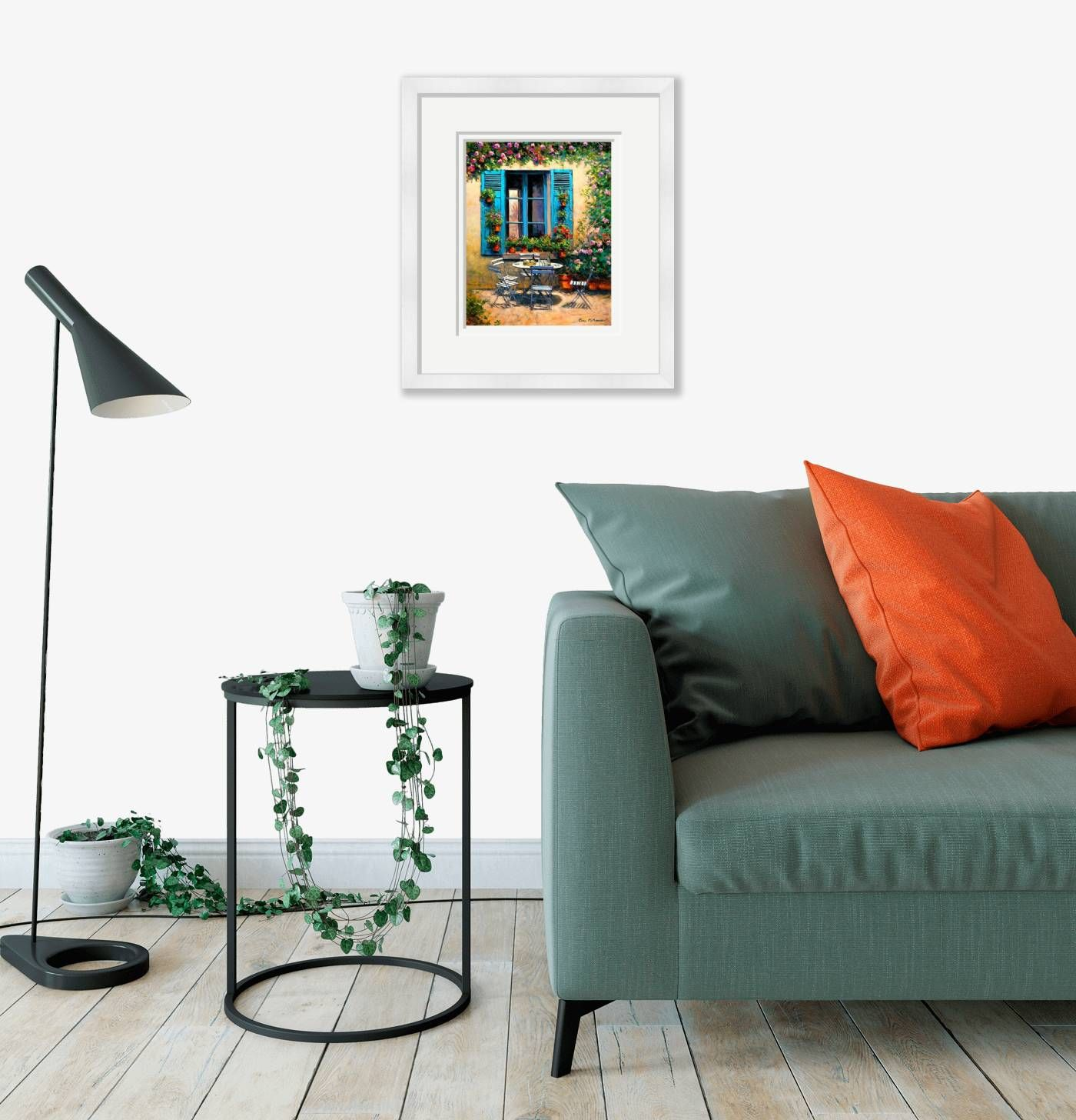 Medium framed - The House with the Blue Shutters - 548 by Chris McMorrow