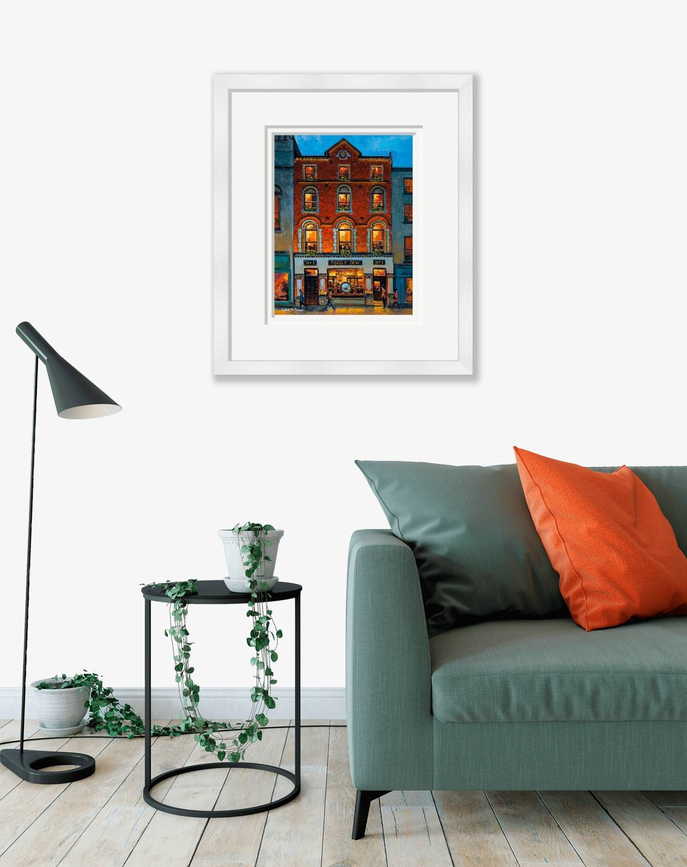 Large framed - The Foggy Dew Pub, Central Bank Square, Dublin - 719 by Chris McMorrow