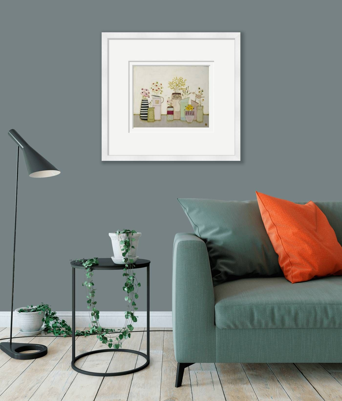 Large framed - A wild array of Blooms by Eithne  Roberts