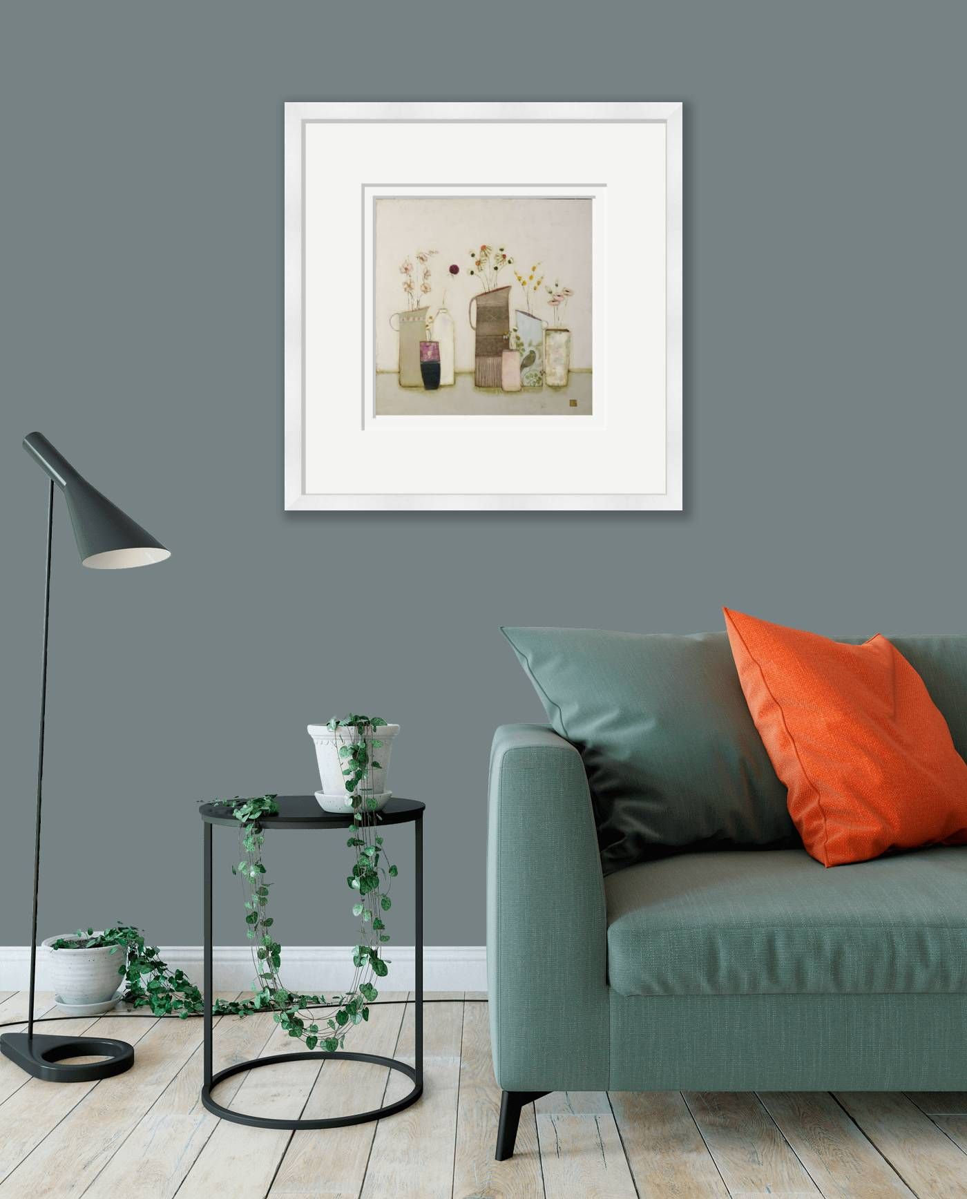 Large framed - A calm place for the birds to rest by Eithne  Roberts