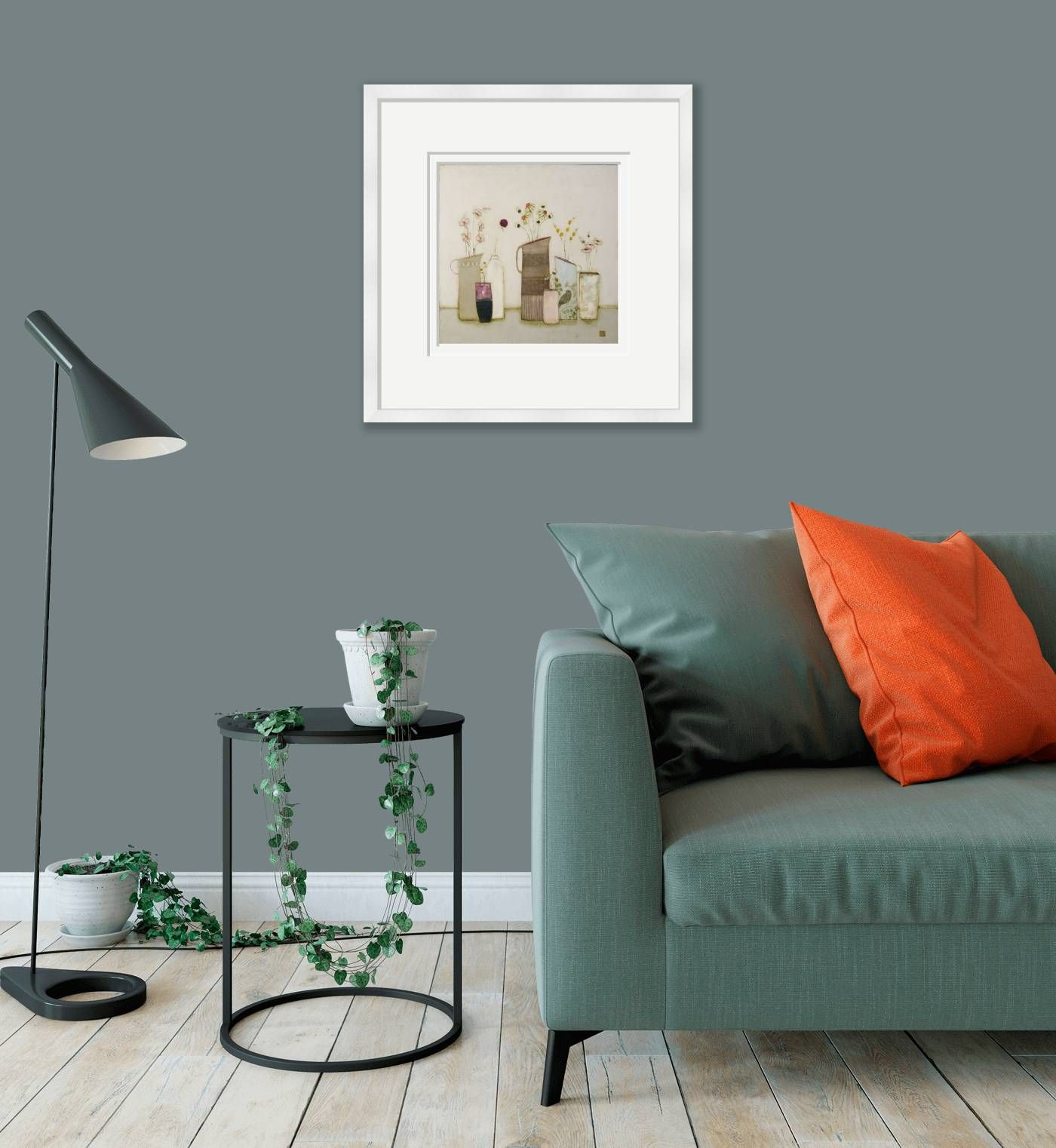 Medium framed - A calm place for the birds to rest by Eithne  Roberts