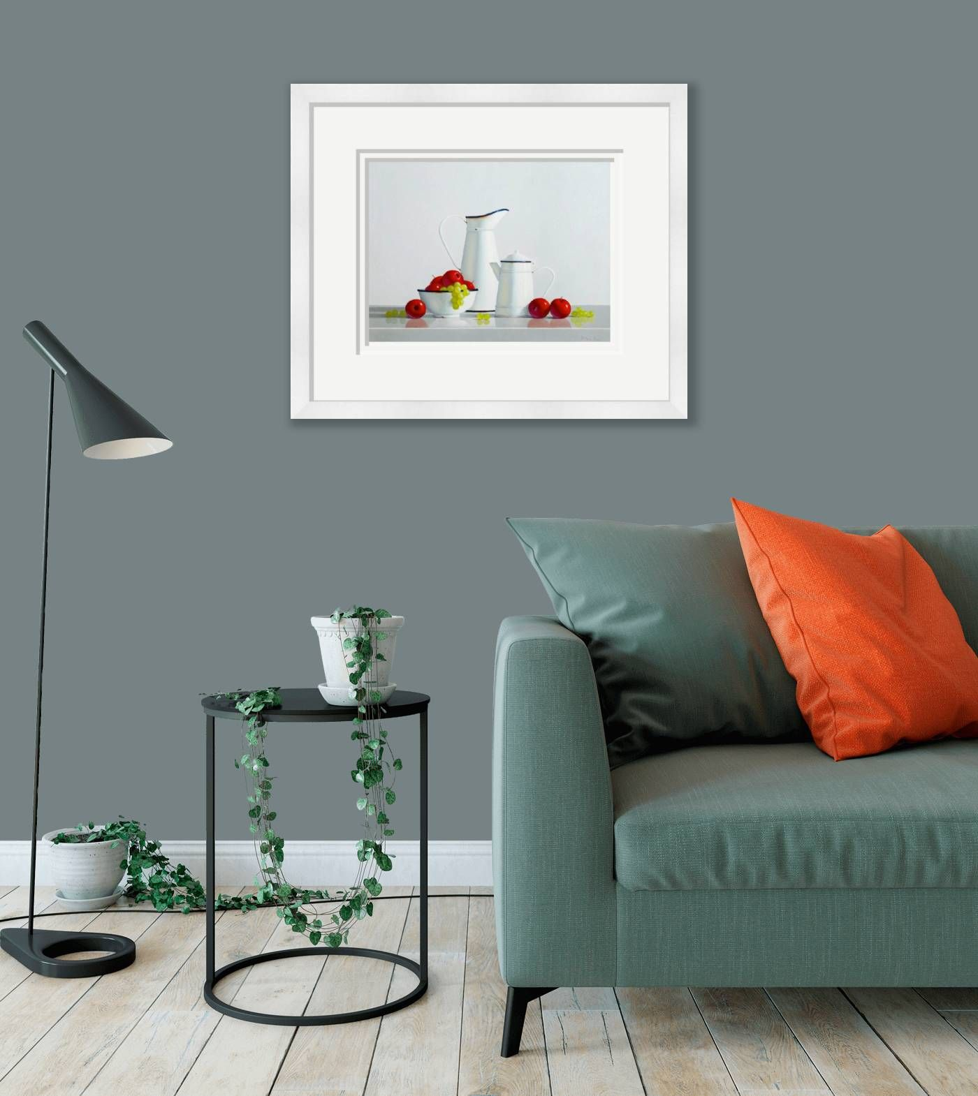 Large framed - Apples & Grapes by Peter Dee