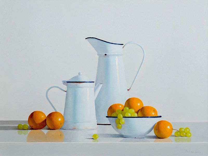 Peter Dee - Bowl of Oranges & Grapes